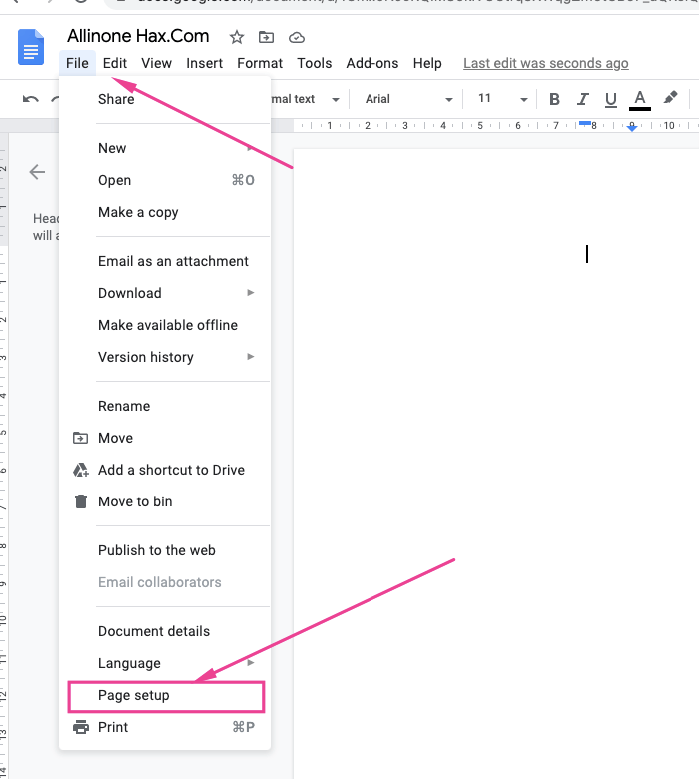 Change Document Margins