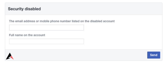 Security Disabled Form