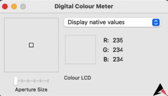 Digital colour Meter Mac