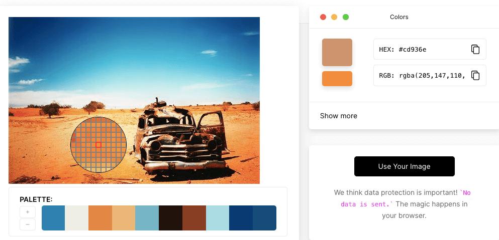 Pick Image Color Online